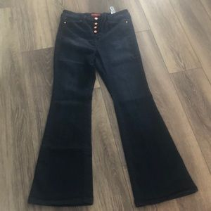 High waisted Guess flare jean